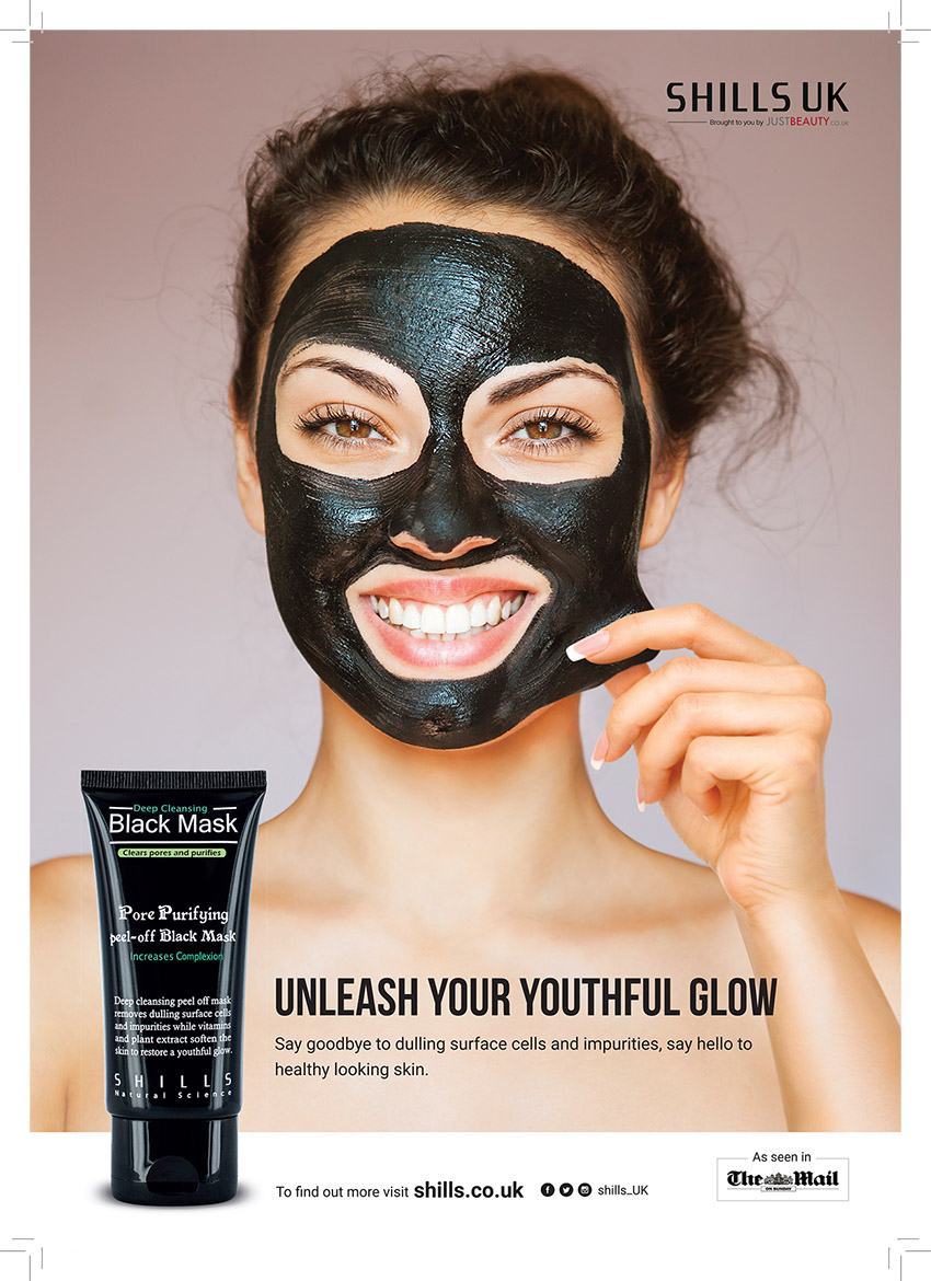 Shills UK The Mail Black Mask Ad