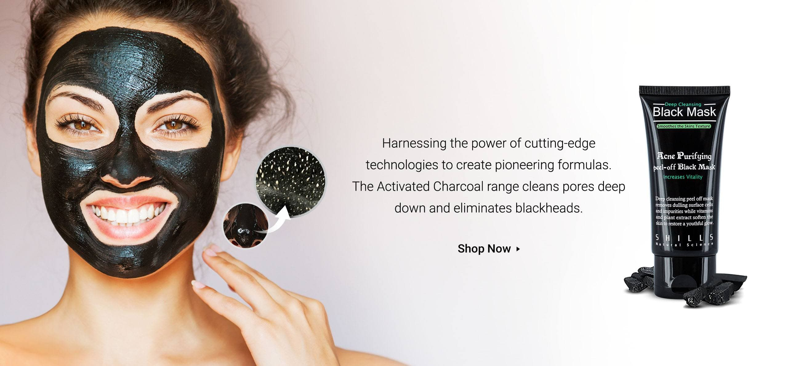 Activated Charcoal Range and Black Mask Banner