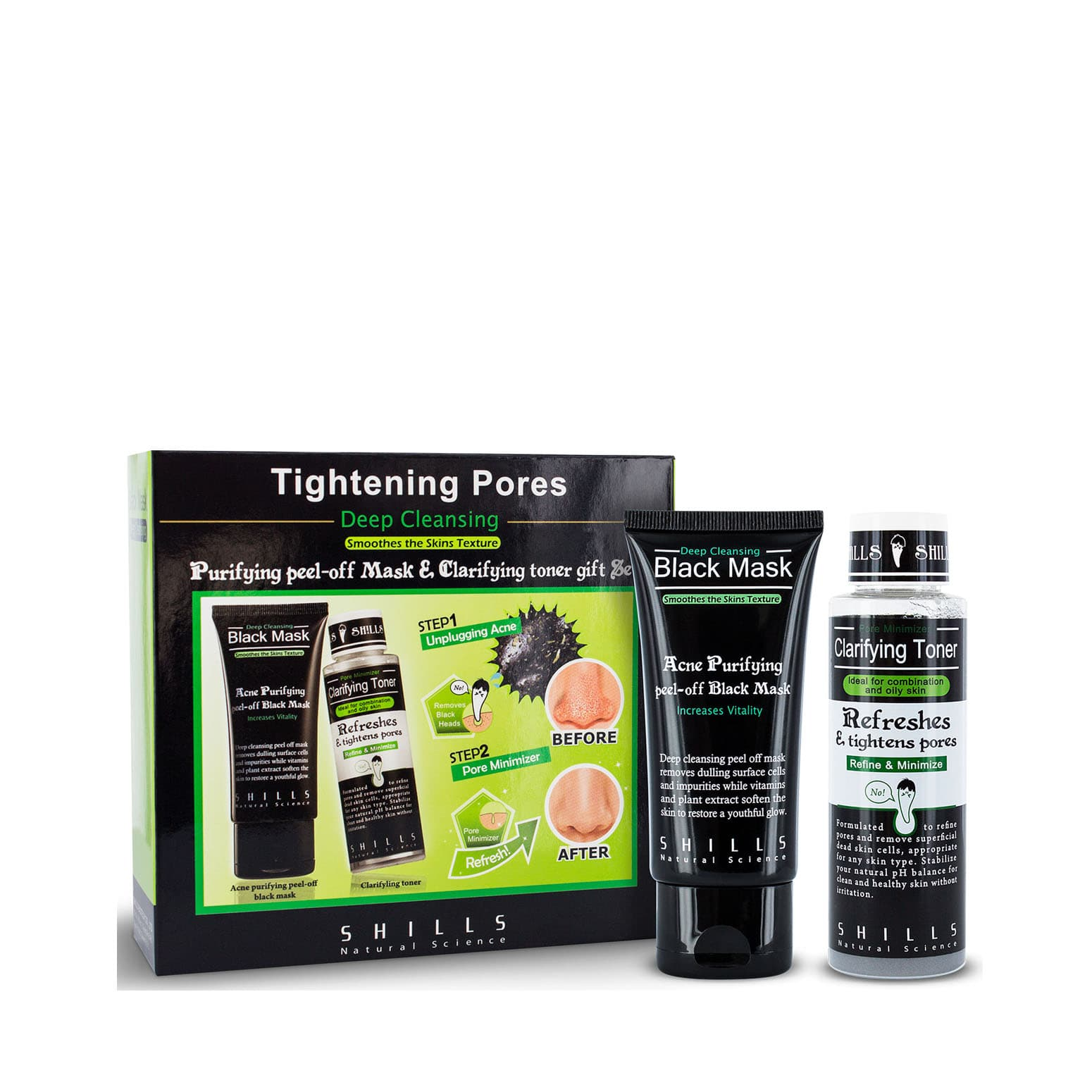 Purifying Peel-off Mask & Clarifying Toner Gift Set