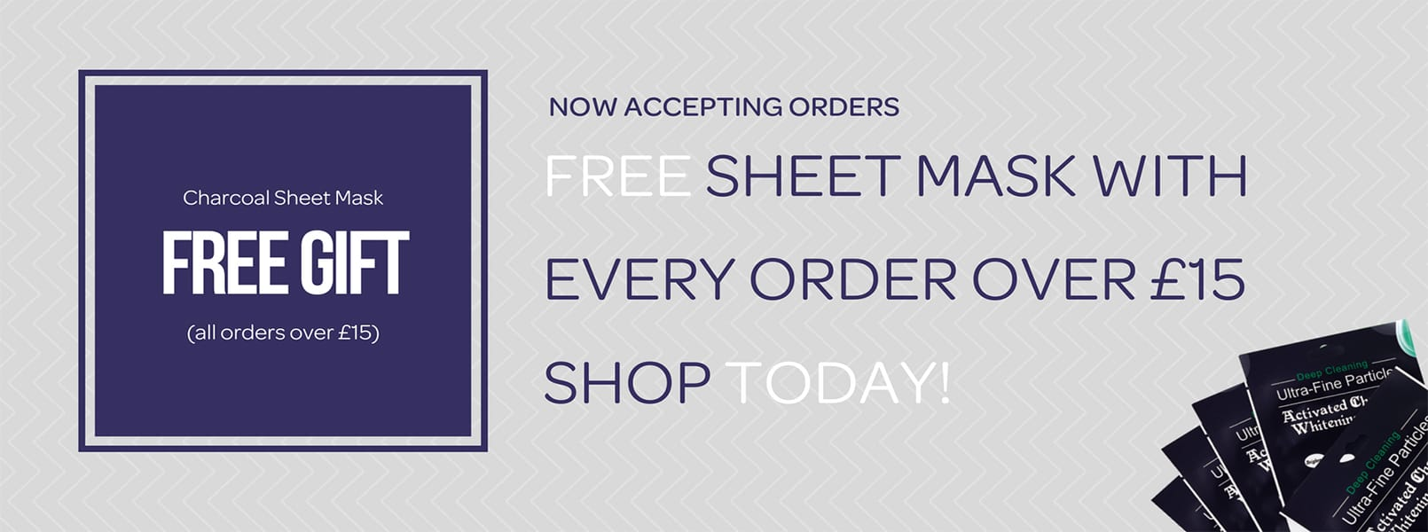 Free Activated Charcoal Sheet Face Mask Banner